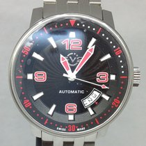 Gevril Stål 40mm Automatisk 002-N4013 - SWISS MADE ny