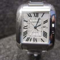 Cartier Tank Anglaise Steel Silver Roman numerals