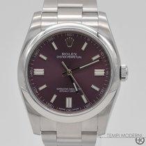 Rolex Oyster Perpetual 36 Steel 36mm Purple Arabic numerals