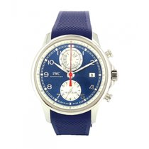 IWC Portuguese Yacht Club Chronograph Steel 43.5mm Blue