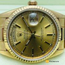 Rolex Day-Date 36 Жёлтое золото 36mm Золотой Без цифр