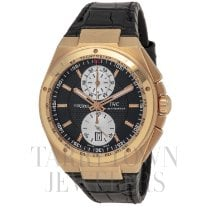 IWC Rose gold Automatic Black 45mm pre-owned Big Ingenieur Chronograph