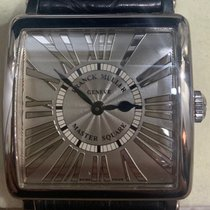 Franck Muller Master Square White gold 33mm Silver Roman numerals