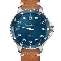 Meistersinger Salthora Meta Steel 46mm Blue Arabic numerals