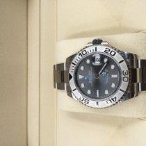Rolex Yacht-Master 37 Steel 37mm Grey No numerals