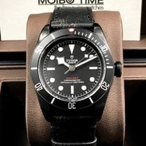 帝陀 (Tudor) Heritage Black Bay Leather Strap Version Dark PVD...