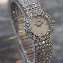 Tourneau - Lady's 18k White Gold & Diamond Bracelet Watch...