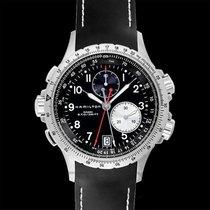 Hamilton Khaki Aviation Eto Chronograph Black Steel/Rubber...