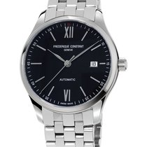 Frederique Constant CLASSICS INDEX Black Dial-Steel Bracelet...