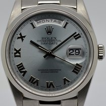 Rolex Day-Date Platin Ice-Blue, Ref. 18206, Bj. 1996