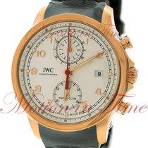 IWC Portuguese Yacht Club Chronograph Rose gold 43.5mm Silver Arabic numerals