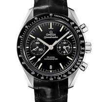 Omega Or blanc Remontage automatique Noir 44.2mm nouveau Speedmaster Professional Moonwatch