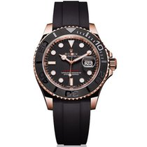 勞力士 116655 Yacht Master  Rose Gold Rubber Band