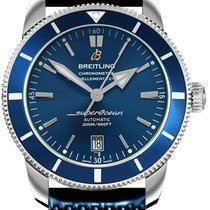 Breitling Superocean Héritage II 46 Сталь 46mm Синий Без цифр
