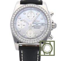 Breitling Chronomat 38 Automatic Chronograph MOP Diamond Set...
