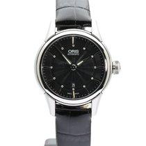 Oris Artelier Date pre-owned 31mm Black Date Leather