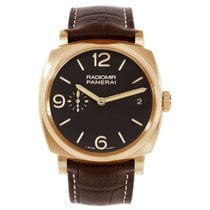 Panerai Red gold Manual winding Brown 47mm new Radiomir 1940 3 Days