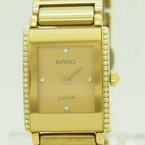 Rado pre-owned Quartz 18mm Gold Sapphire Glass 3 ATM