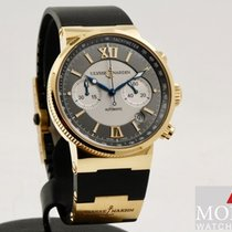 Ulysse Nardin Marine Chronograph Rose gold 43mm Champagne Roman numerals