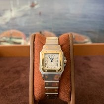 Cartier Santos Galbée Acier 24mm Blanc Romain France, Cannes
