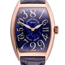 Franck Muller Crazy Hours Rose gold 55.4mm Blue Arabic numerals