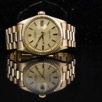 Rolex Datejust rabljen 36mm Zlatan Datum, nadnevak Zuto zlato