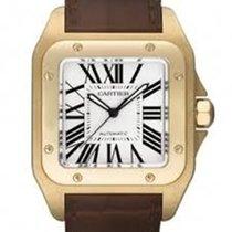Cartier Santos 100 Yellow gold 38mm White No numerals