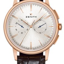 Zenith Rose gold Automatic Silver 42mm new Elite Chronograph Classic