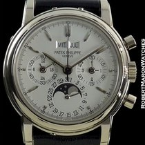 Patek Philippe 3970g Unpolished 18k White Gold Perpetual...