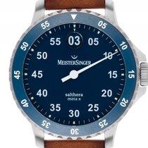 Meistersinger Salthora Meta Steel 43mm Blue Arabic numerals