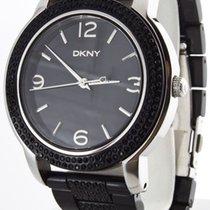 DKNY Glitz Black Dial Women's Watch Plastic Band #NY8424