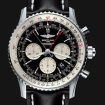 Breitling Navitimer Rattrapante Chrono Black Dial and  Strap ...