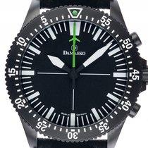 Damasko DC80 Black Stahl Automatik Chronograph Armband Leder...