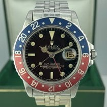Rolex GMT Master 1675 Gilt Glossy Dial Fat Pepsi Font Box 1965
