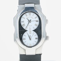 Philip Stein Teslar Watch Dual Time Stainless Steel EMF Chip...