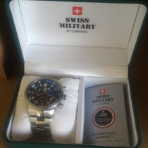 Swiss Military Steel 44mm Quartz SM34042 pre-owned