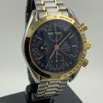 Omega Speedmaster Day Date Gold/Steel 40mm Blue No numerals
