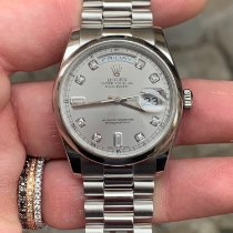 Rolex Day-Date 36 Platina 36mm Argint