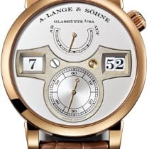 A. Lange & Söhne Rose gold Manual winding Silver Arabic numerals new Zeitwerk