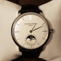 Frederique Constant Manufacture Slimline Moonphase occasion 42mm Blanc Phase lunaire Date Cuir de crocodile