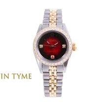 Rolex Oyster Perpetual Ouro/Aço 24mm Vermelho