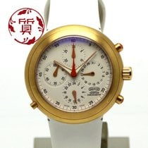 Ikepod Hemipode Yellow gold 44mm White