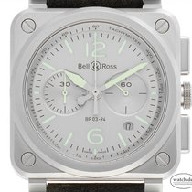 Bell & Ross BR 03-94 Chronographe Steel 42mm Silver Arabic numerals