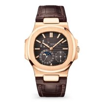 Patek Philippe Red gold Automatic Grey No numerals 40mm new Nautilus