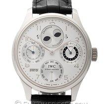 IWC Platine Remontage automatique Argent Arabes 44.2mm occasion Portuguese Perpetual Calendar
