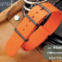MiLTAT Thick 21mm NATO Watch Strap, Orange, PVD