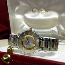 까르띠에 (Cartier) Must 21 Gold Steel Roman Bezel Lady Watch 30 mm