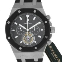 Audemars Piguet Royal Oak Tourbillon Steel 44mm Black No numerals United States of America, New York, Greenvale