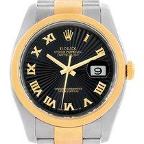 Rolex Datejust Mens Steel Yellow Gold Sunbeem Dial Watch...
