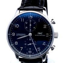 IWC Portuguese Chronograph Steel Crocostrap 41 mm (Full Set)
